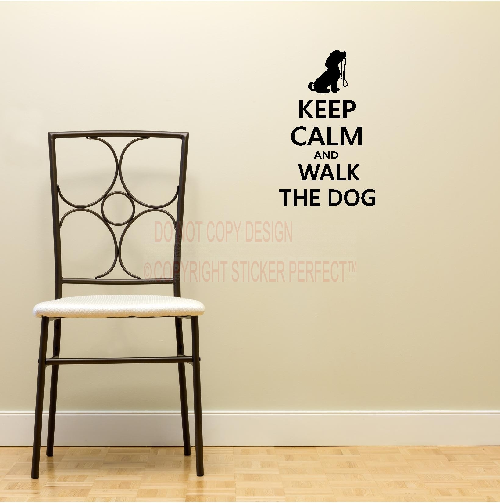2 Keep Calm And Walk The Dog Decals Cute Puppy Wall Art Wall Sayings Pertaining To Latest Wall Art Sayings (View 1 of 20)