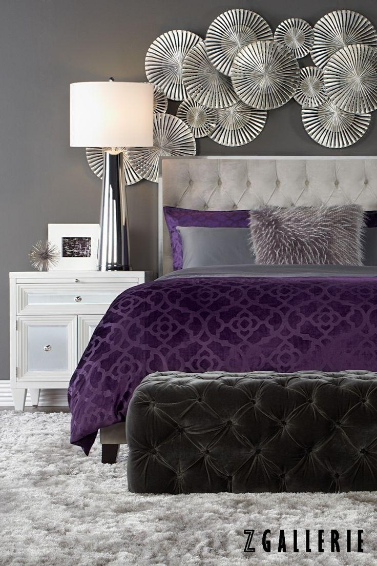 20 Best Collection Of Purple Wall Art For Bedroom Wall, Purple Intended For Best And Newest Purple And Grey Wall Art (View 7 of 20)
