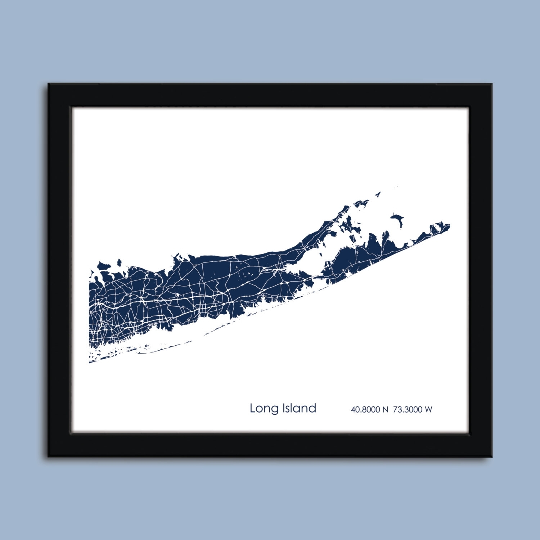 20 Long Island Wall Art, Long Island Landmark Typography Canvas Wall Within Recent Long Island Wall Art (View 2 of 20)
