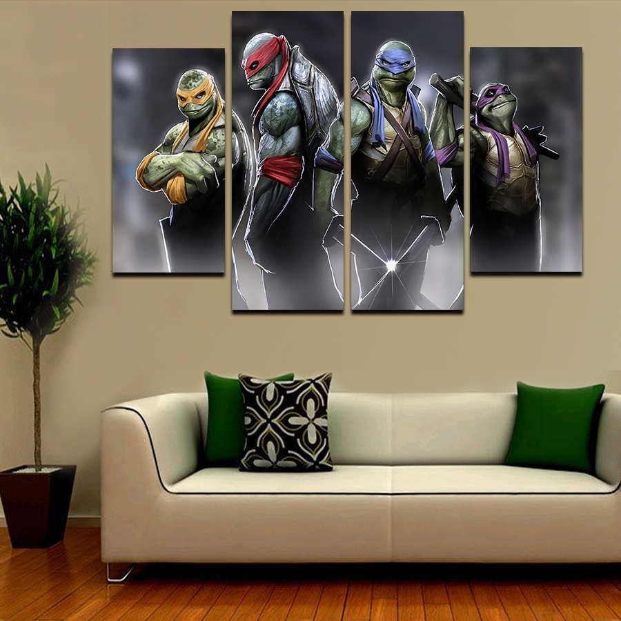 Featured Photo of Ninja Turtle Wall Art
