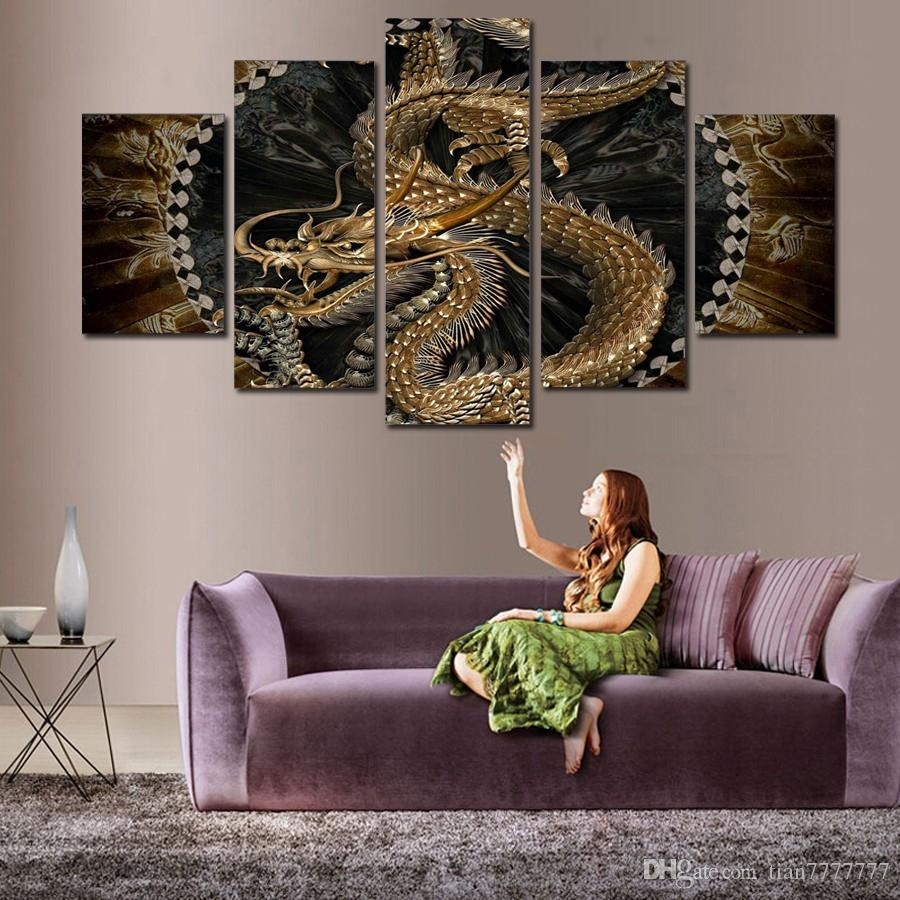 2018 Animal Dragon Canvas Painting Wall Art Digital Printing Picture Pertaining To 2018 Dragon Wall Art (Gallery 1 of 20)