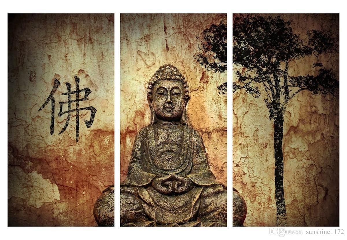 2018 Buddha Poster Print Painting No Frame Canvas Wall Art Decor With Current Traditional Wall Art (View 11 of 15)