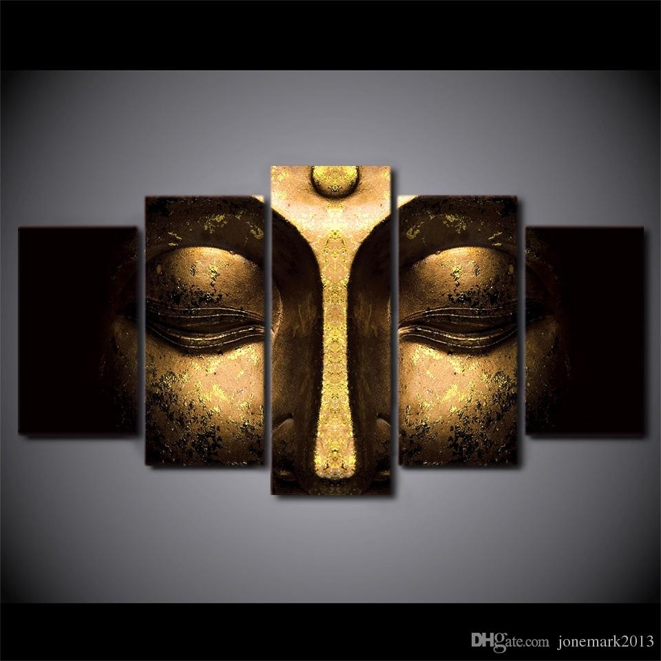 2018 Canvas Art Buddha Peaceful Hd Printed Wall Art Home Decor With Most Recently Released 5 Piece Wall Art Canvas (Gallery 5 of 15)