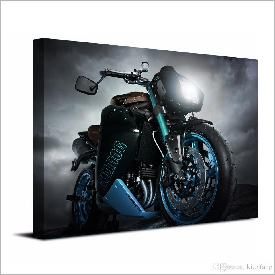 2018 Canvas Art Poster Angry Motorcycle Hd Canvas Painting Wall Art Regarding Best And Newest Motorcycle Wall Art (View 2 of 20)