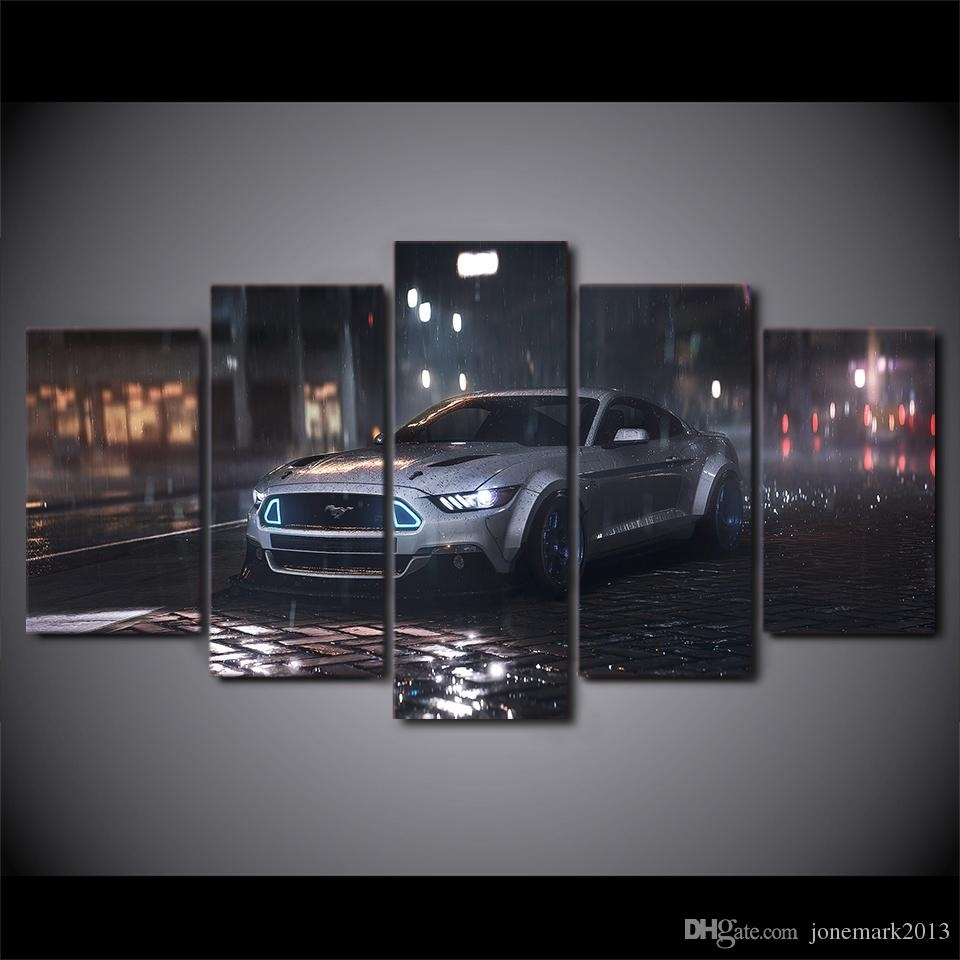 2018 Canvas Art Sports Car Hd Printed Wall Art Home Decor Canvas Intended For 2018 Car Canvas Wall Art (View 2 of 20)