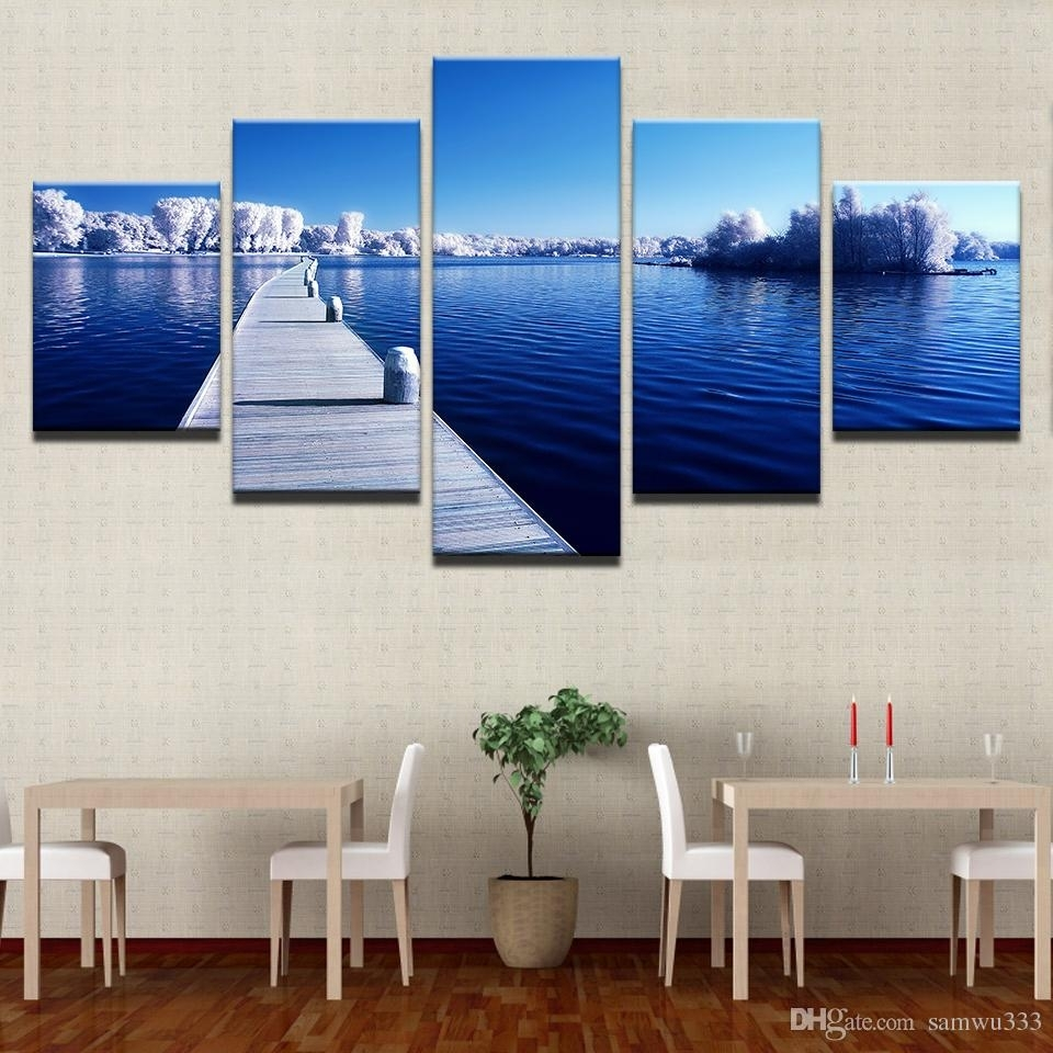 2018 Canvas Home Decor Wall Art Pictures Snow Trees Forest Long With Regard To Best And Newest Long Canvas Wall Art (View 1 of 20)