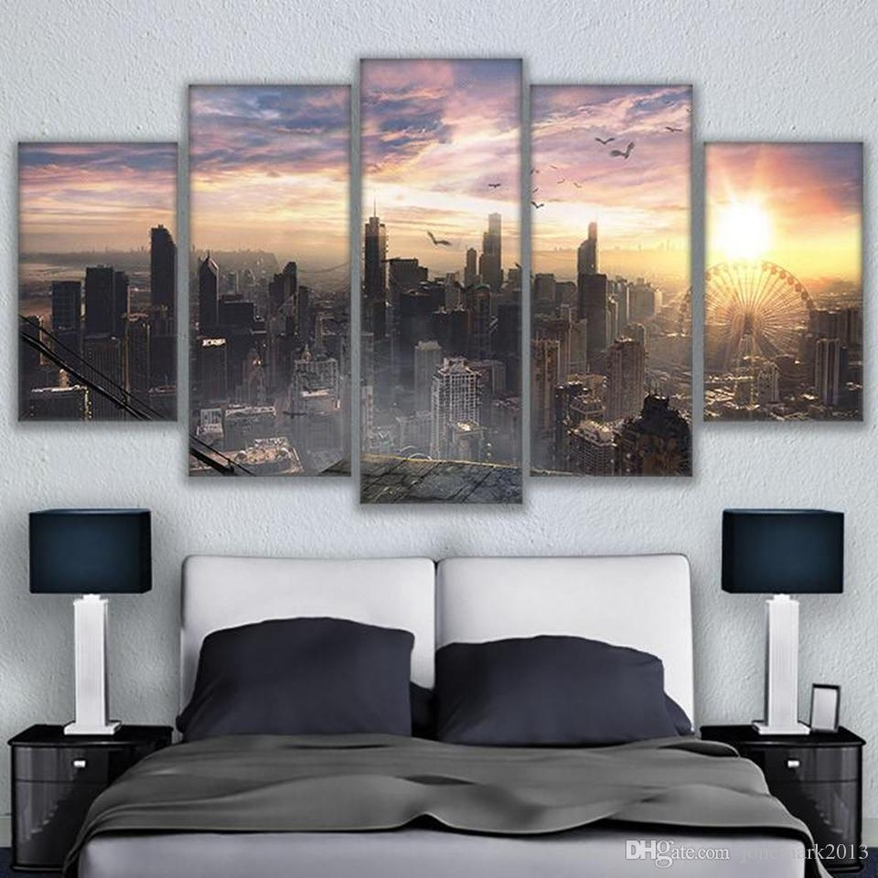 2018 Canvas Living Room Wall Art Decor Hd Prints Pictures Chicago Throughout Most Recently Released Chicago Wall Art (Gallery 3 of 15)