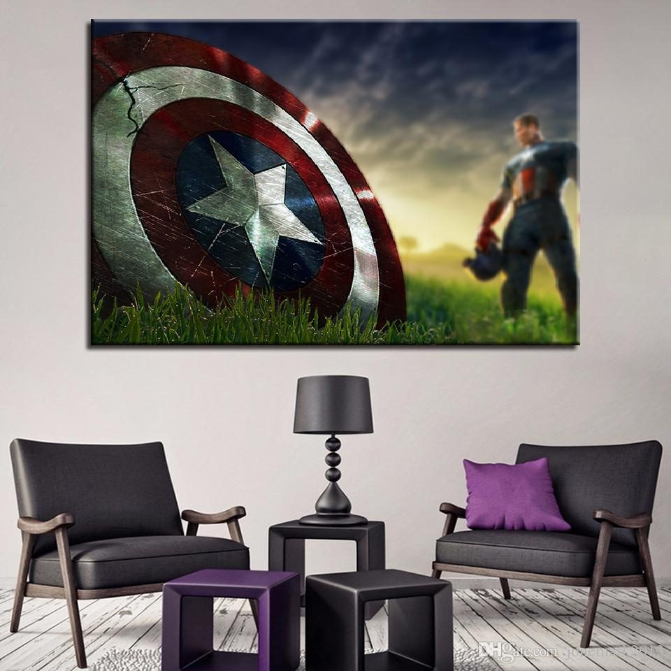 2018 Canvas Paintings Wall Art Framework For Living Room Home Decor Regarding Most Up To Date Captain America Wall Art (View 1 of 15)
