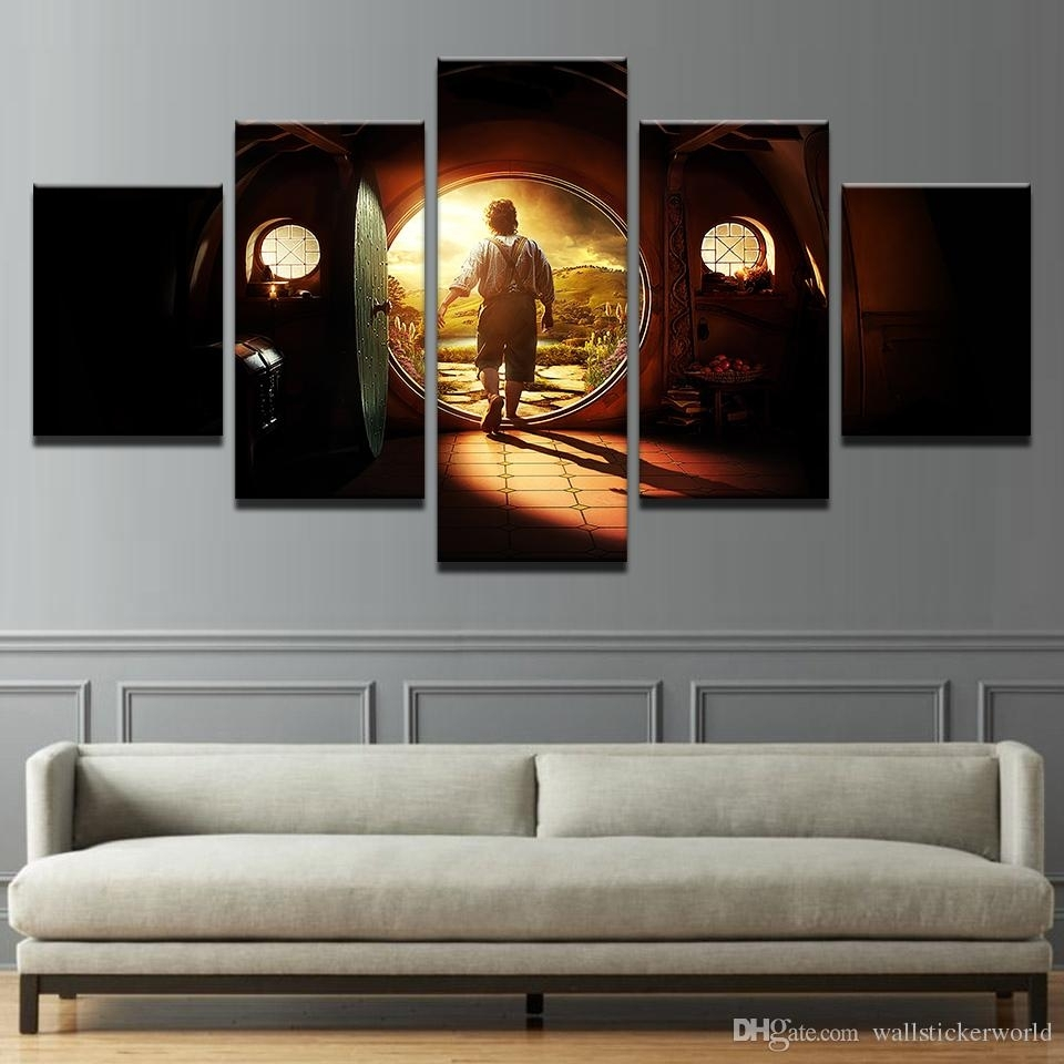 2018 Canvas Pictures Home Decor Wall Art Lord Of The Rings Paintings Throughout Most Recently Released Lord Of The Rings Wall Art (View 2 of 20)