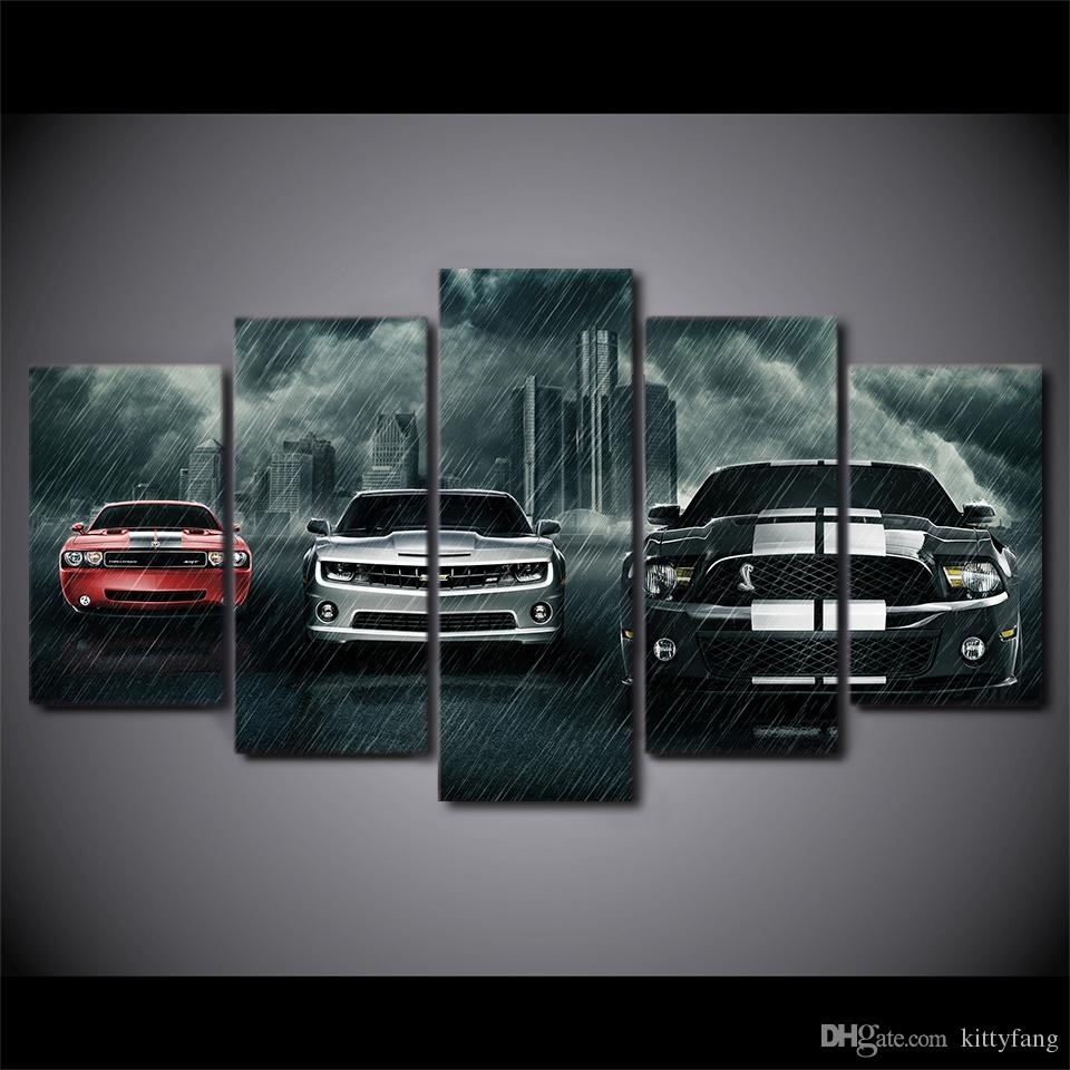 2018 Canvas Wall Art Pictures Home Decor Framework Muscle Cars Pertaining To Best And Newest Car Canvas Wall Art (View 3 of 20)