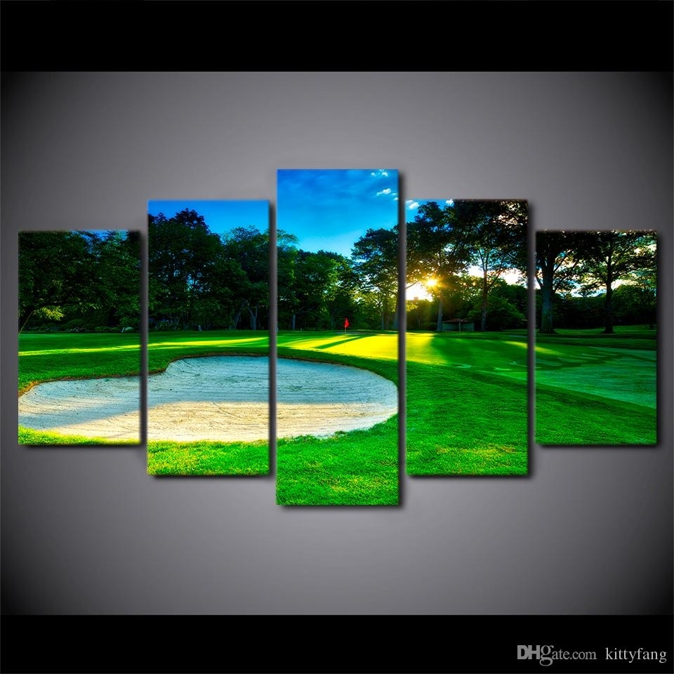 2018 Canvas Wall Art Pictures Home Decor Framework Spring Golf Regarding 2018 Golf Canvas Wall Art (View 9 of 20)