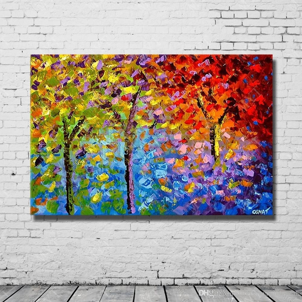 2018 Chinese Abstract Knife Landscape Wall Art Oil Painting On With Regard To Newest Chinese Wall Art (Gallery 8 of 20)