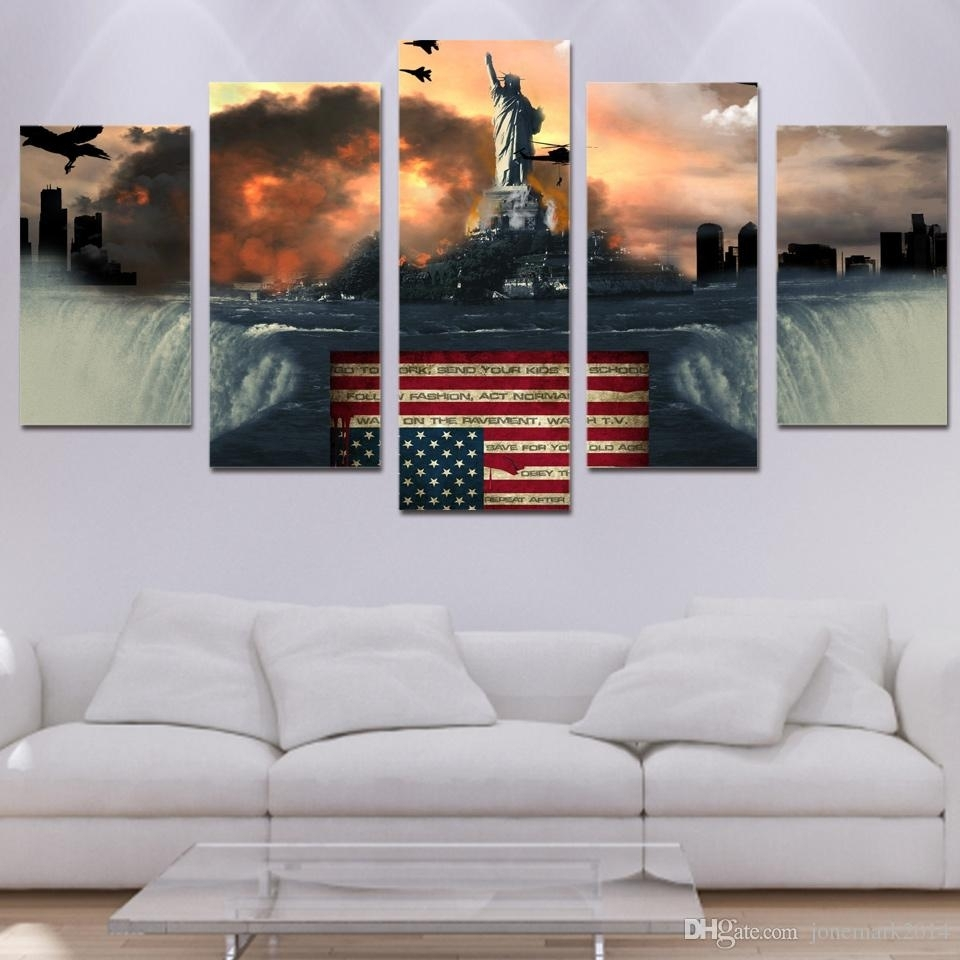 2018 Framed Hd Printed Flag Bird Eagle Wall Art Canvas Print Poster For 2018 Bird Framed Canvas Wall Art (View 3 of 20)