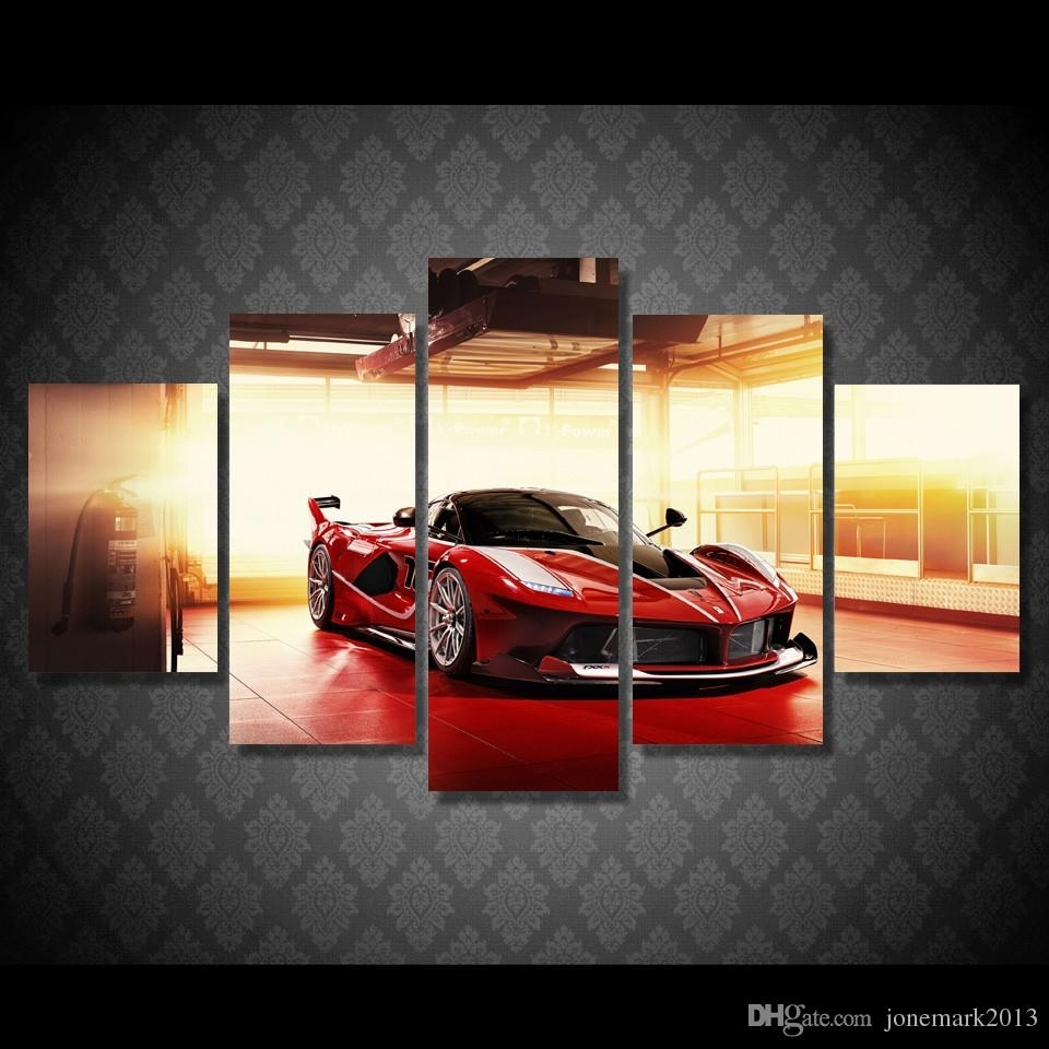 2018 Framed Hd Printed Red Luxury Sports Car Picture Wall Art Canvas With Current Car Canvas Wall Art (View 4 of 20)
