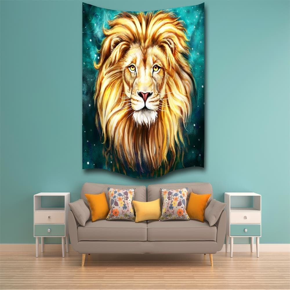 2018 Green Lion King 3D Digital Printing Home Wall Hanging Nature Throughout Latest Lion King Wall Art (View 17 of 20)