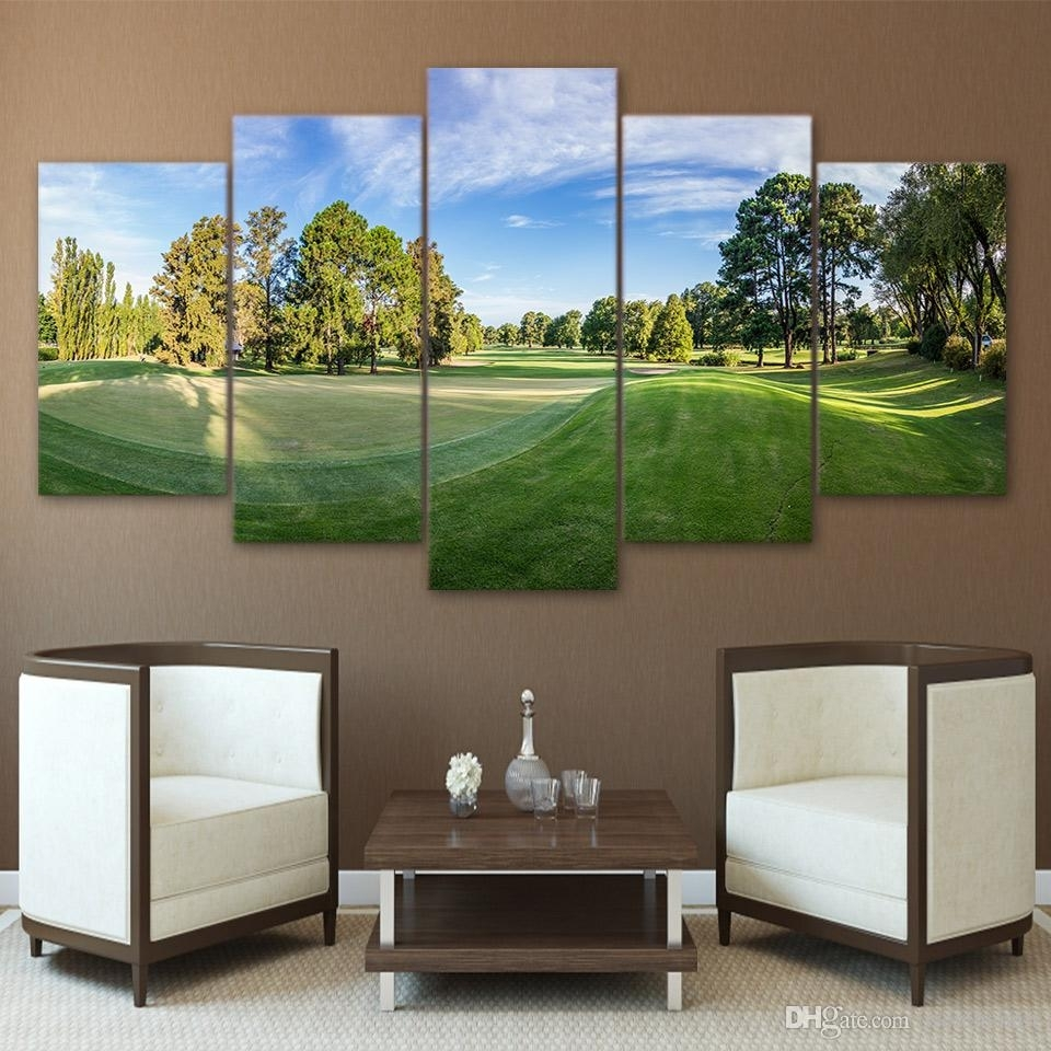 2018 Hd Printed Canvas Art Golf Course Canvas Painting Wall Pictures With Most Recent Golf Canvas Wall Art (View 2 of 20)