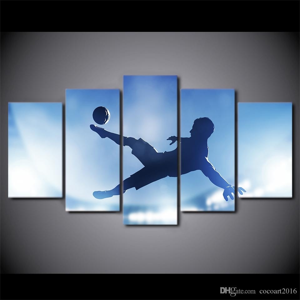 2018 Hd Printed Canvas Art Soccer Sports Large Canvas Wall Art With Most Popular Soccer Wall Art (View 2 of 20)