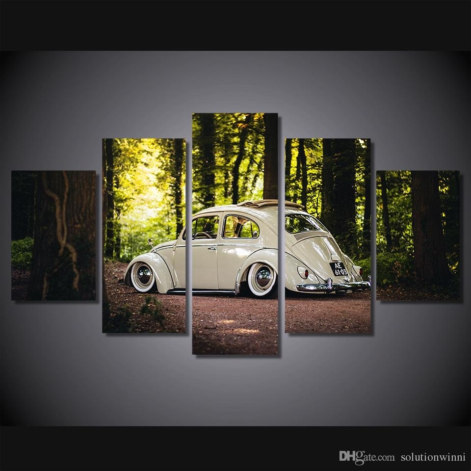 2018 Hd Printed Famous Car Painting Room Decor Canvas Art Wall Art Throughout Latest Car Canvas Wall Art (View 11 of 20)