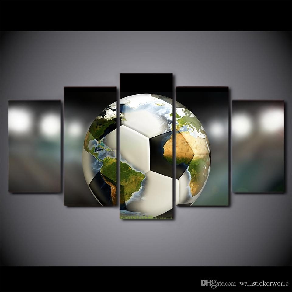 2018 Hd Prints Canvas Wall Art Pictures Soccer Football World Map Throughout 2017 Soccer Wall Art (View 5 of 20)