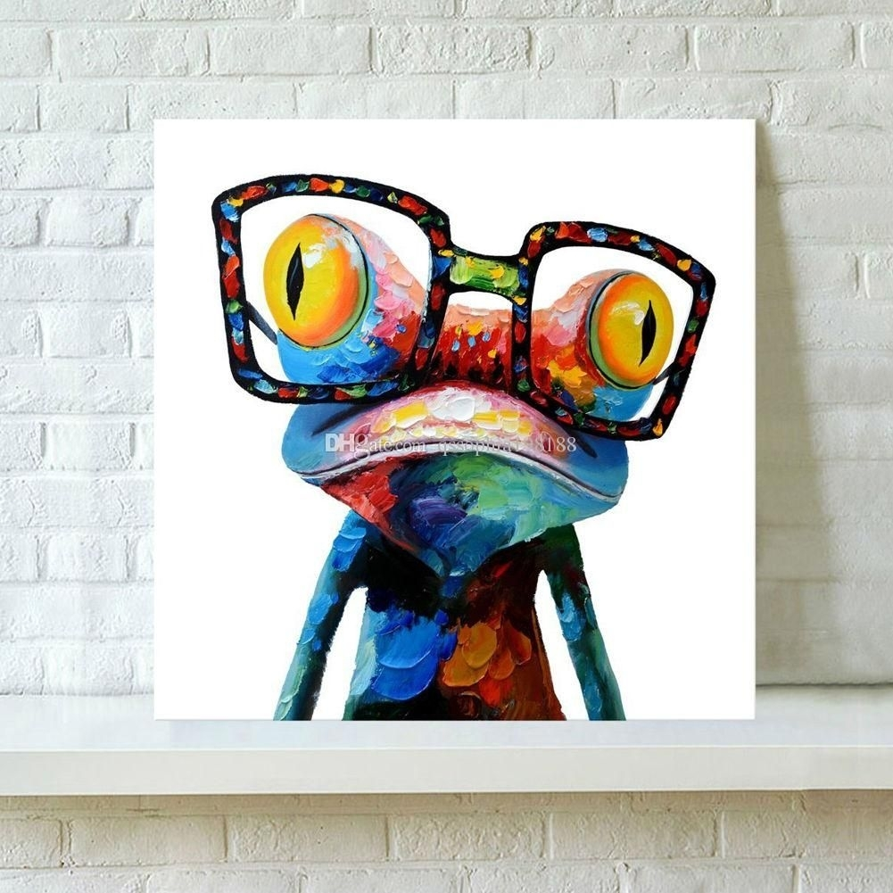 2018 Modern Abstract Art Brand New 100% Hand Painted Oil Painting On With Best And Newest Gecko Canvas Wall Art (View 1 of 20)