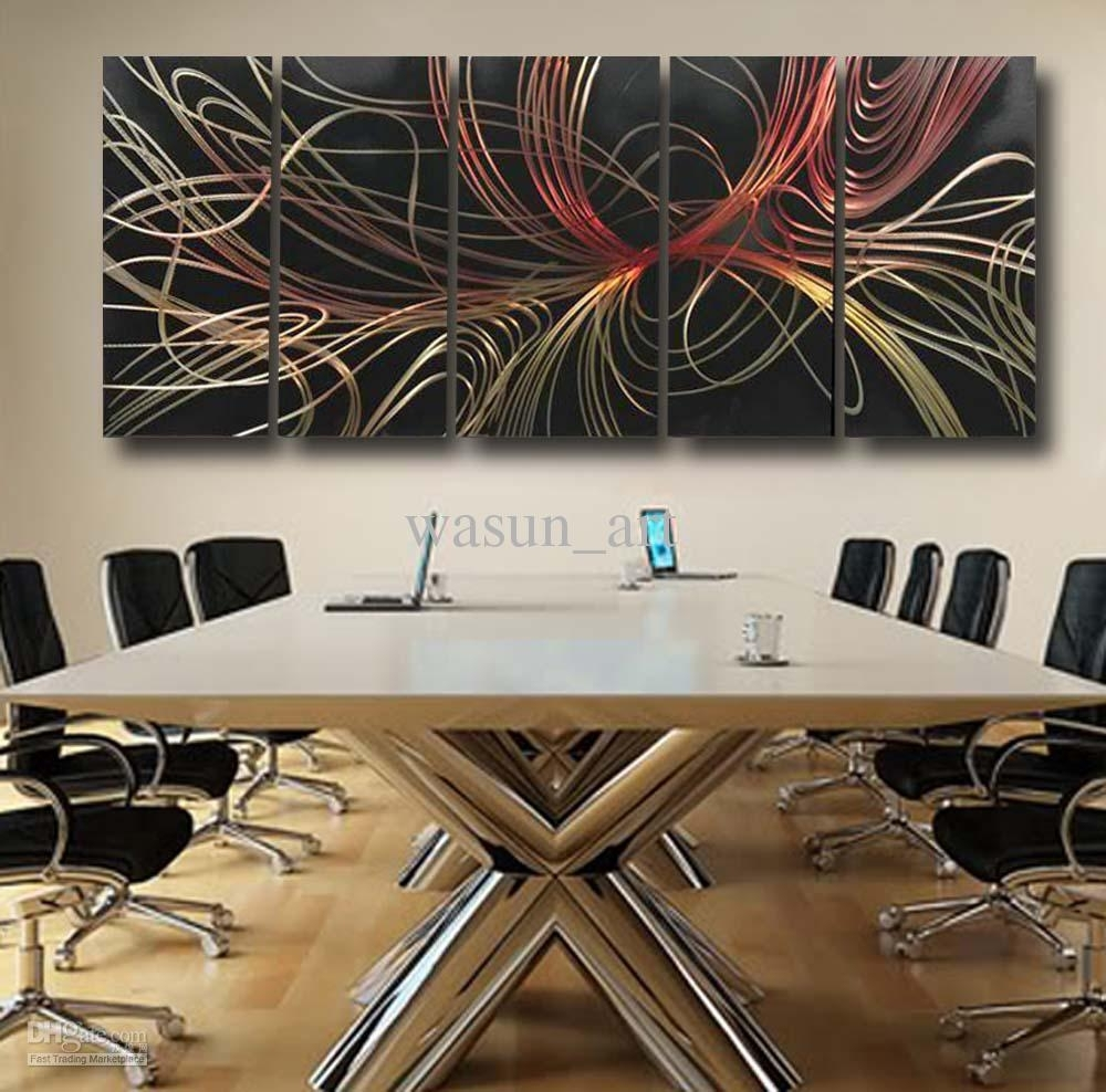 2018 Modern Abstract Painting,metal Wall Art Sculpture,wall Hangings For Most Up To Date Contemporary Wall Art Decors (View 1 of 20)
