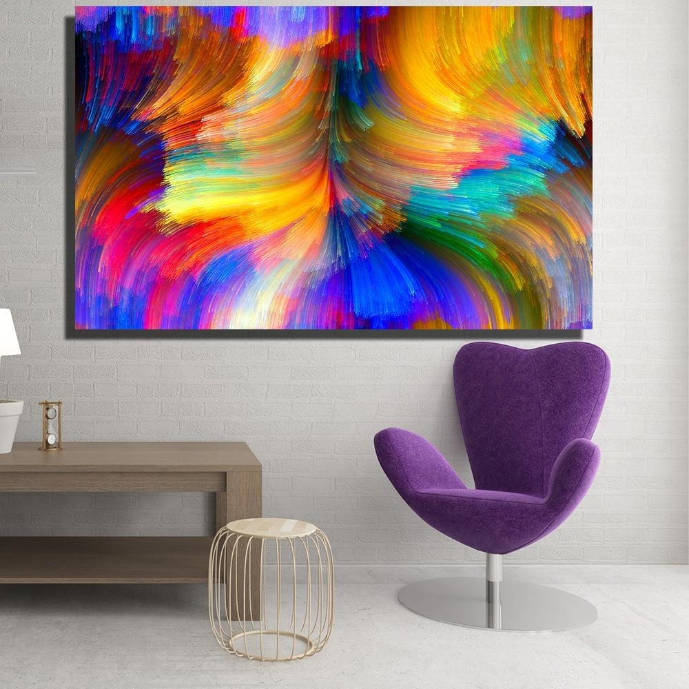 2018 Modern Canvas Prints Oil Painting Abstract Abstract Bright Within Best And Newest Modern Painting Canvas Wall Art (View 2 of 20)