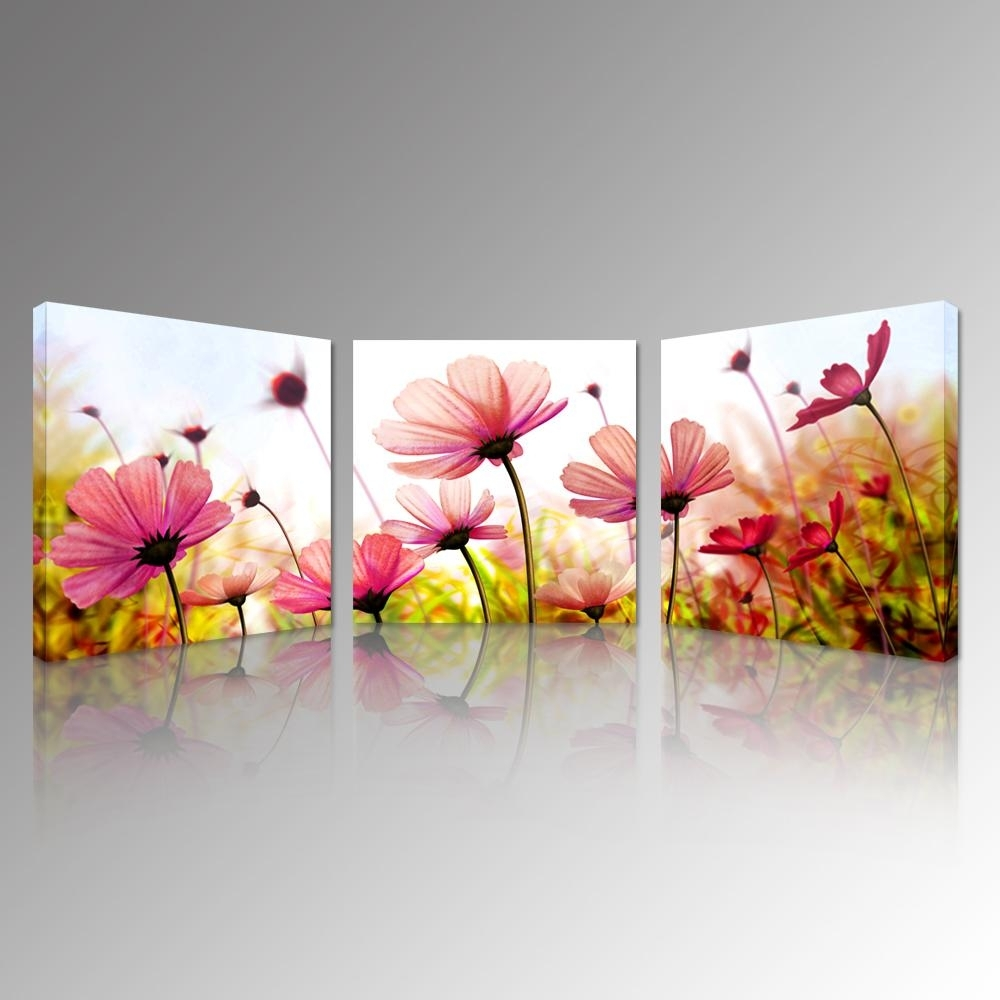 2018 Pink Recollections Canvas Prints Beautiful Flowers Picture Art Within Newest Floral Canvas Wall Art (Gallery 8 of 20)