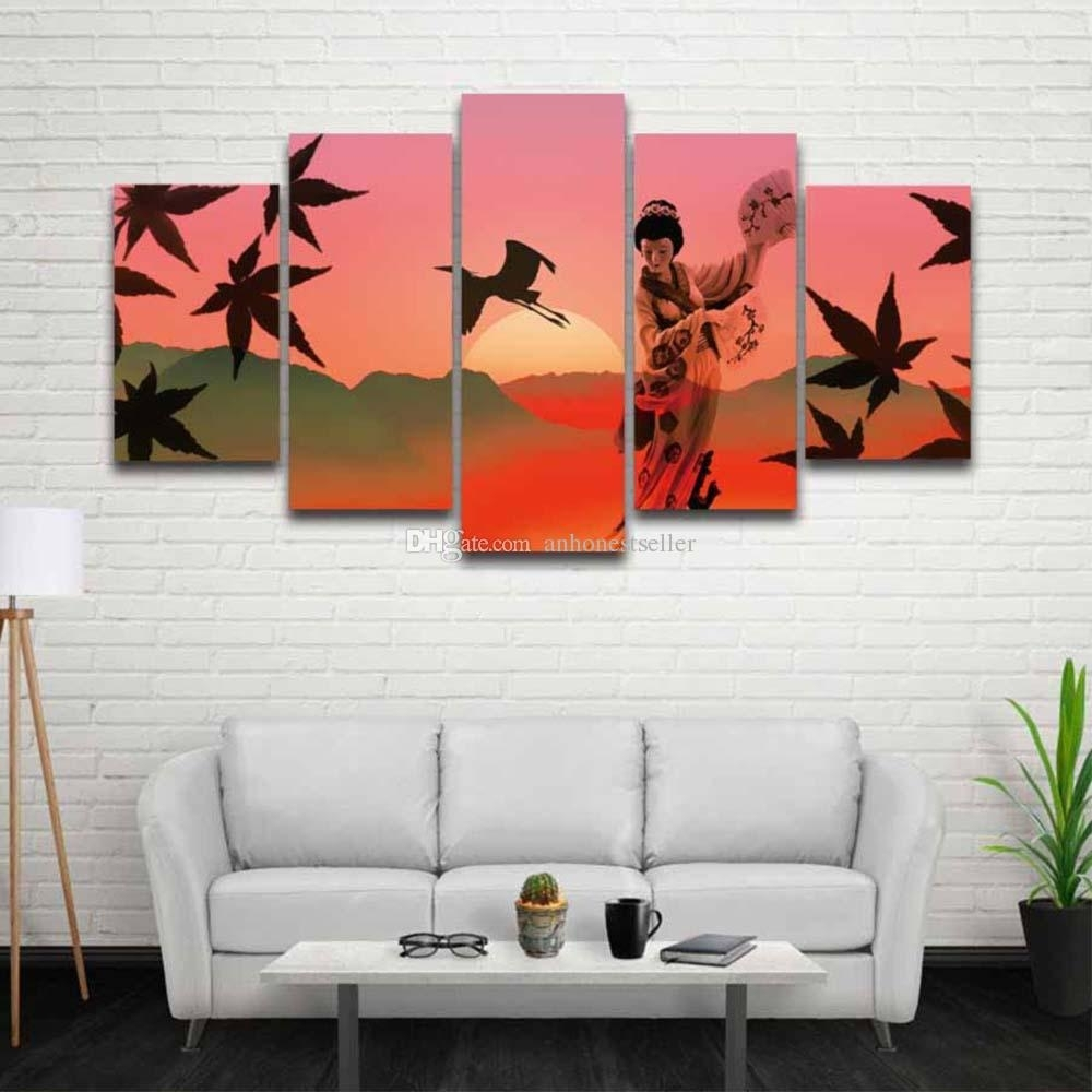 2018 Printed Japanese Art Landscape Picture Scenery Canvas Painting For Most Recent Japanese Wall Art (View 1 of 20)