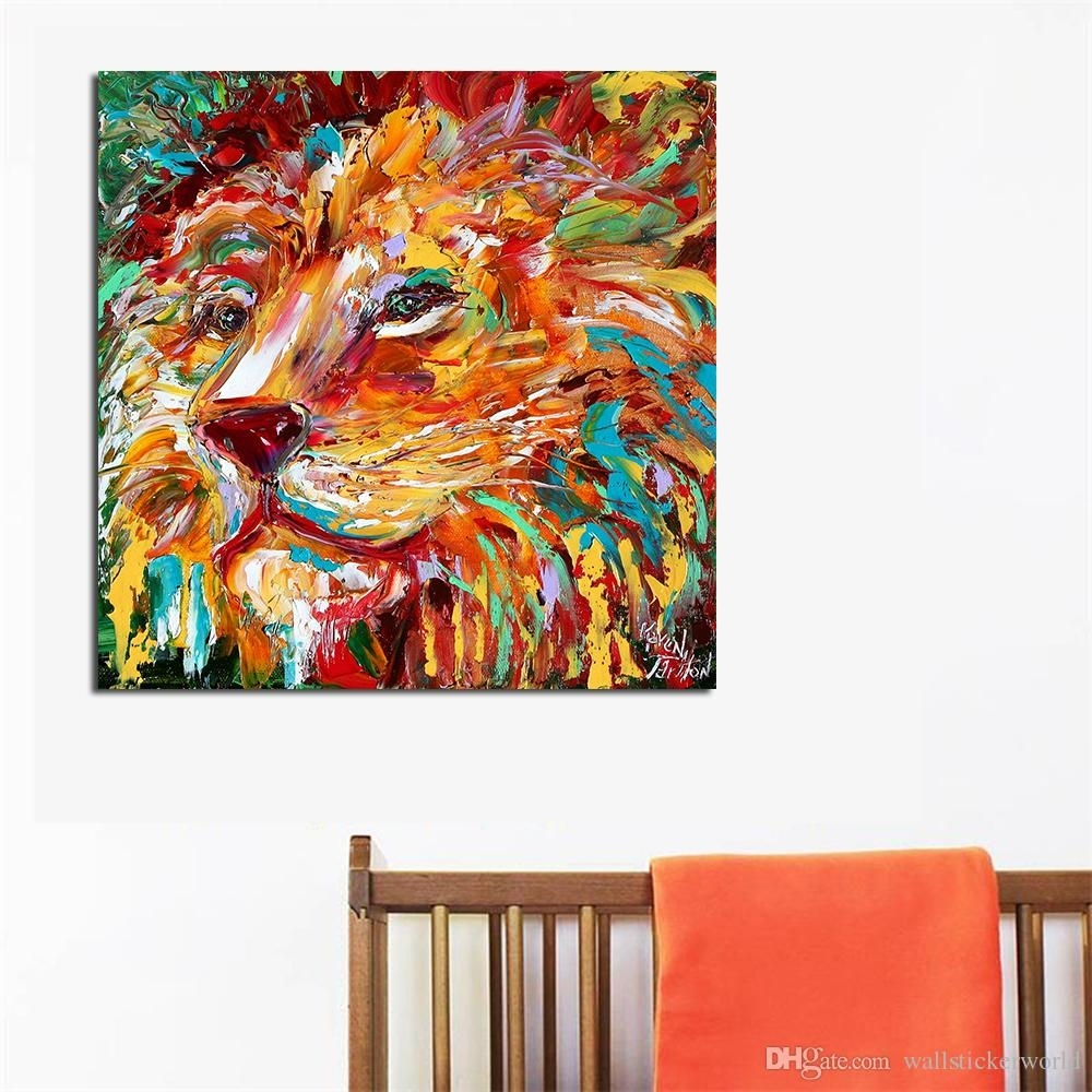 2018 The Colorful Lion King Painting Wall Art Home Decor Modern Regarding 2017 Lion King Wall Art (View 2 of 20)