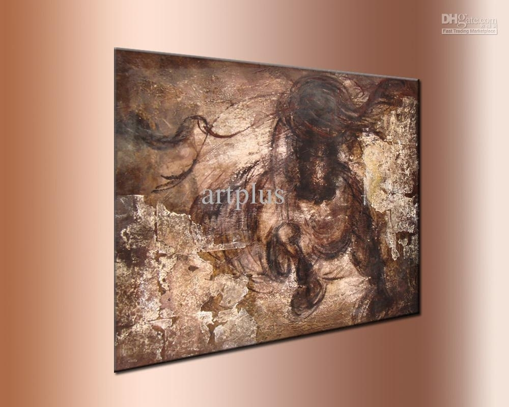 2018 Wall Art ,galloping Horse Oil Painting,handpainted ,thick With Most Popular Horses Wall Art (View 1 of 20)