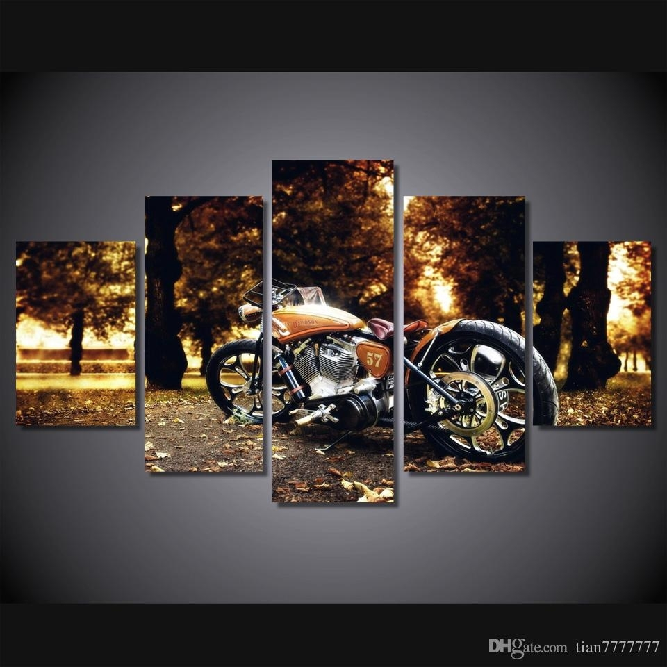 2018 Wall Art Racing Motorcycle Painting Canvas Print Poster Picture Pertaining To 2018 Motorcycle Wall Art (Gallery 5 of 20)