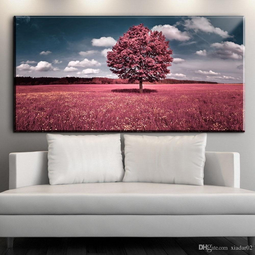 2018 Zz1904 Modern Canvas Wall Art Beautiful Nature Scenery Canvas Throughout Newest Nature Wall Art (Gallery 1 of 20)