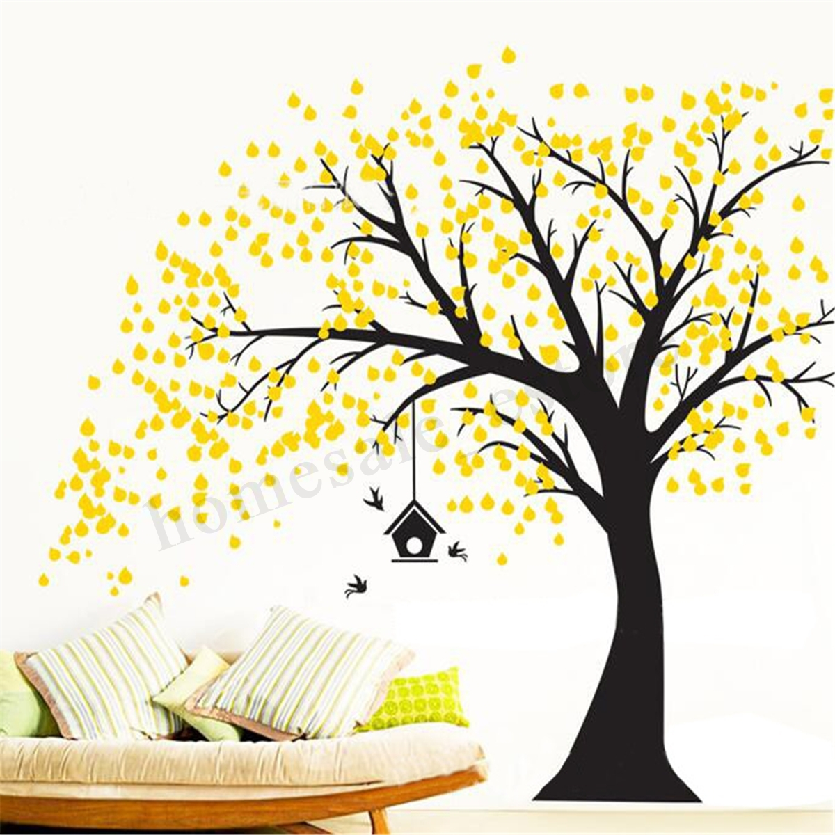 210Cmx180Cm Diy Tree Wall Paper Art Wall Sticker Home Bedroom Bbay Throughout Best And Newest Wall Tree Art (View 1 of 20)