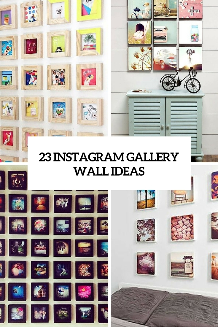 23 Instagram Gallery Wall Ideas For Trendy Décor – Shelterness Within Newest Instagram Wall Art (Gallery 3 of 20)