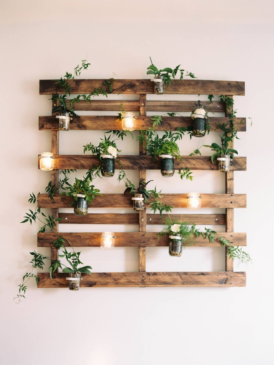 24 Best Mason Jar Wall Decor Ideas And Designs For 2018 Intended For Recent Mason Jar Wall Art (Gallery 5 of 20)