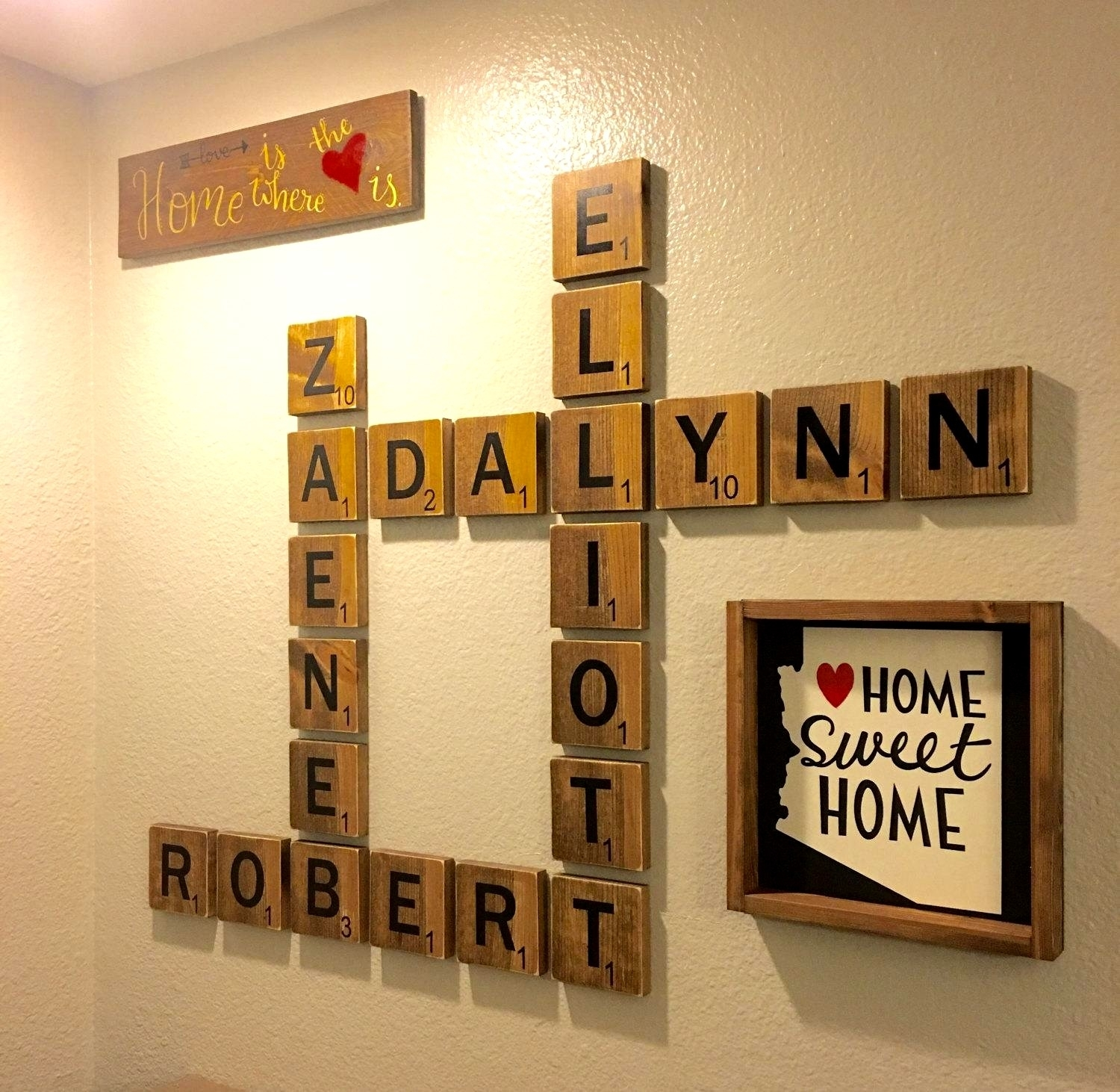 25 Layout Scrabble Tiles Wall Art For Most Up To Date Scrabble Wall Art (View 1 of 20)