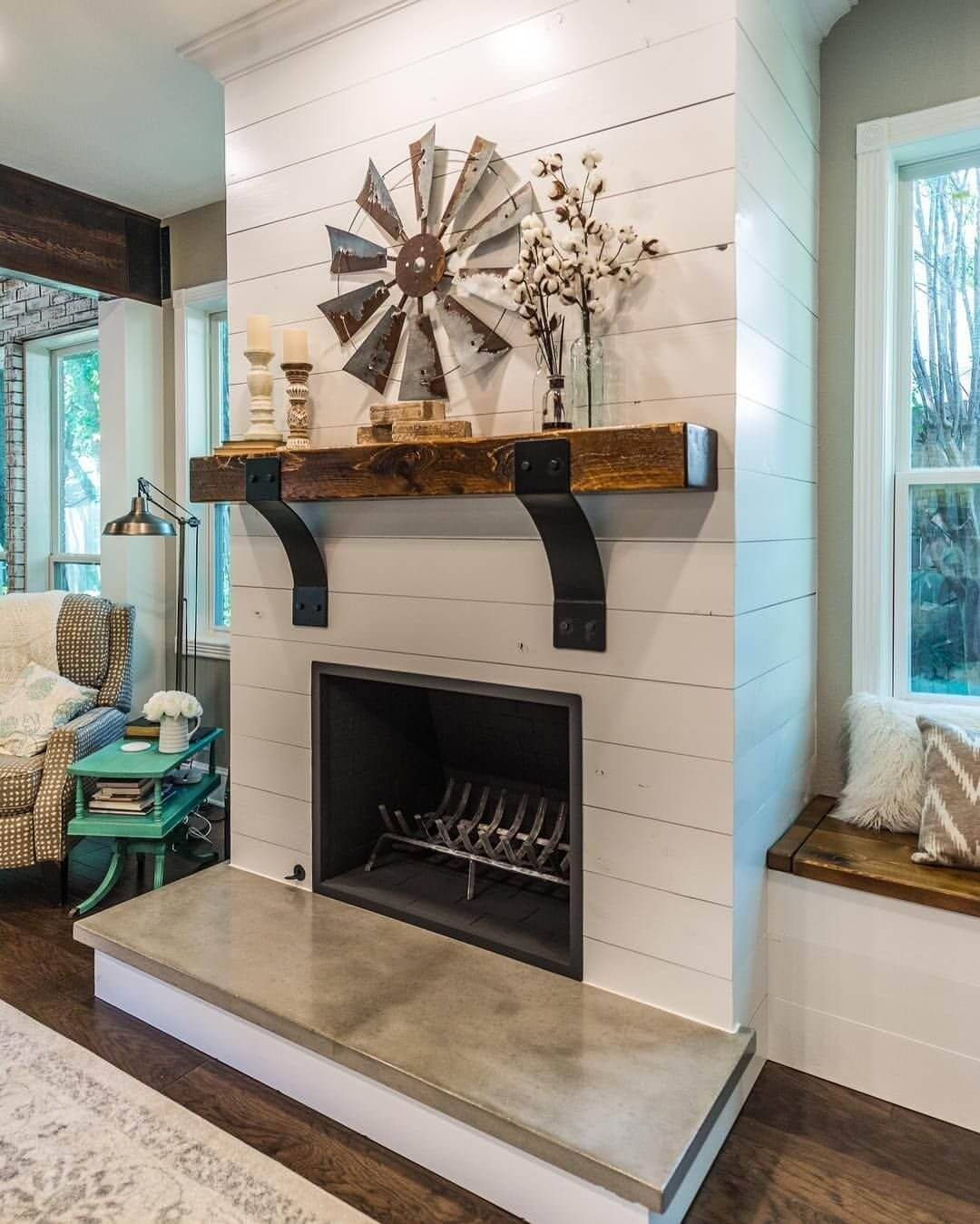 28 Farmhouse Mantel Decor Ideas To Make Your Home Unforgettable For Intended For 2018 Windmill Wall Art (View 3 of 20)