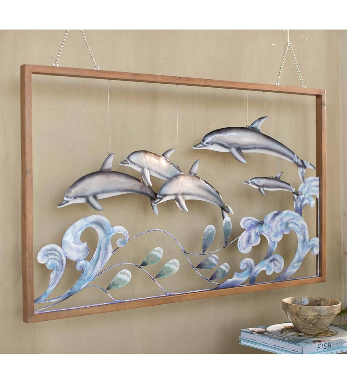 3 D Metal Dolphin Wall Art | Top Rated For The Home | New & Best Within Newest 3 Dimensional Wall Art (View 5 of 20)