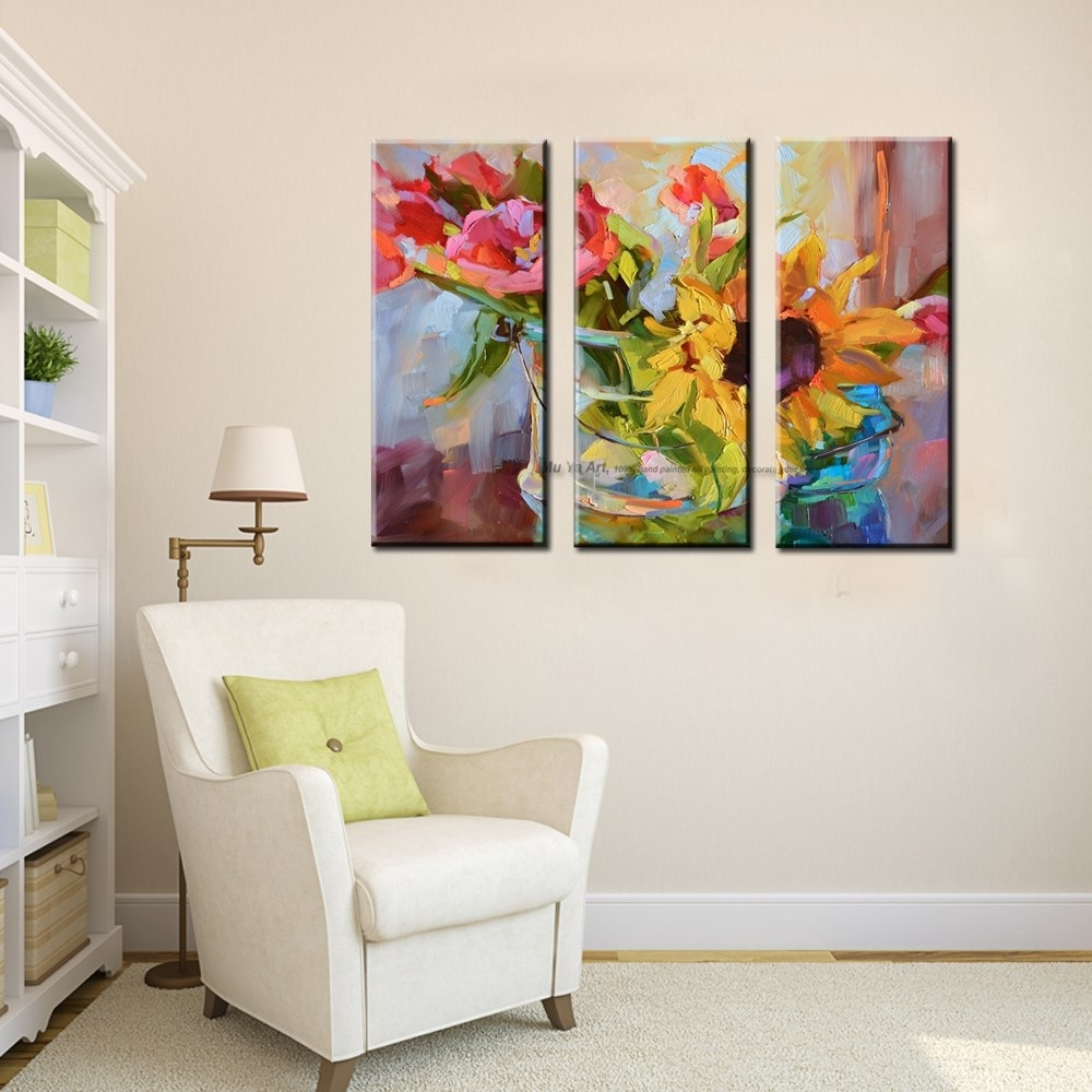 3 Piece Abstract Modern Canvas Wall Art Decorative Acrylic Painting With Most Up To Date Acrylic Wall Art (View 4 of 20)
