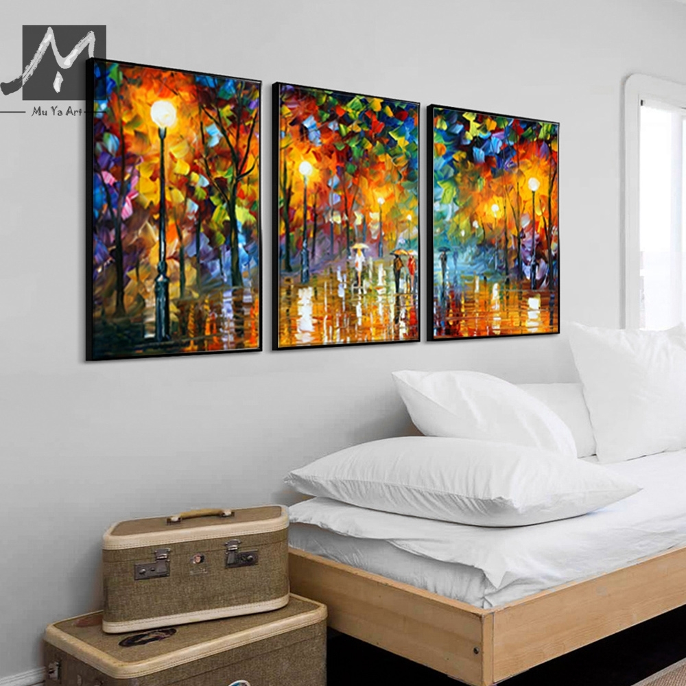 3 Piece Canvas Art Abstract Paintings Acrylic Wall Decor Cheap throughout Current Acrylic Wall Art