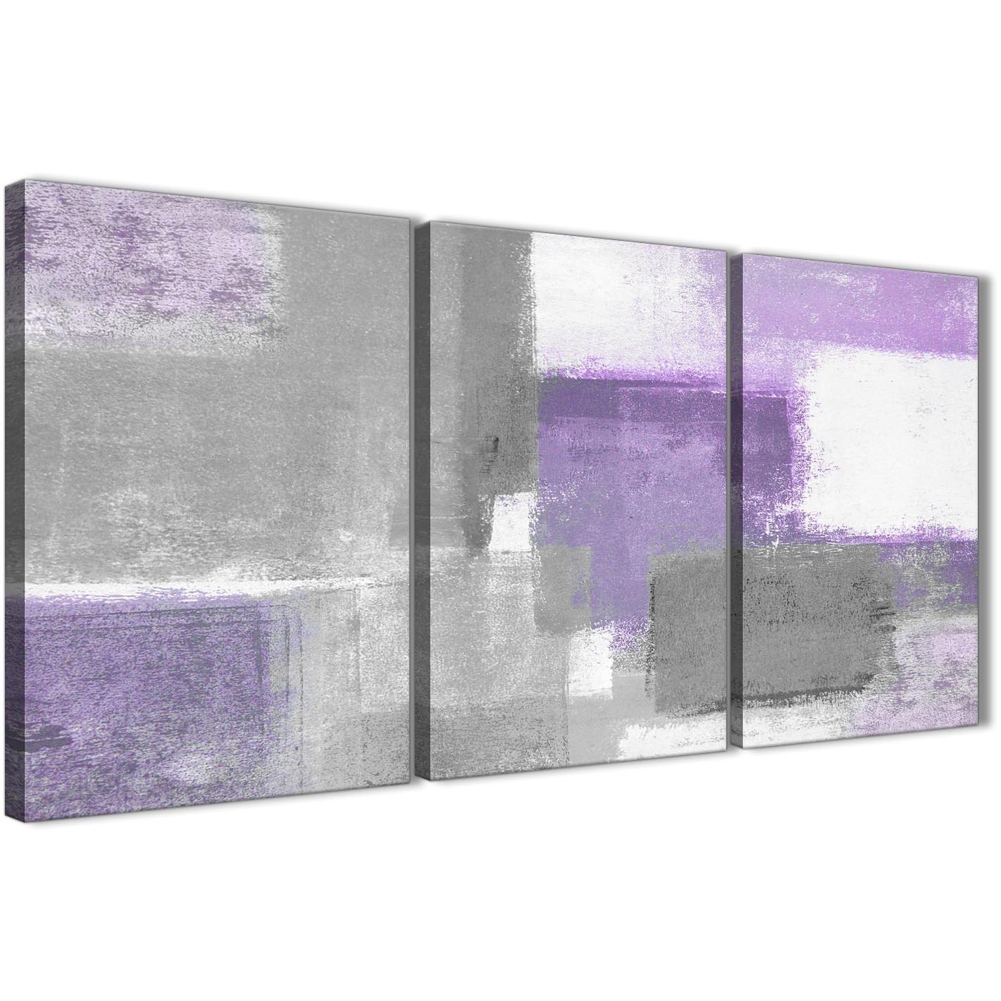 3 Piece Purple Grey Painting Kitchen Canvas Pictures Decor For Most Up To Date Gray Canvas Wall Art (View 5 of 20)