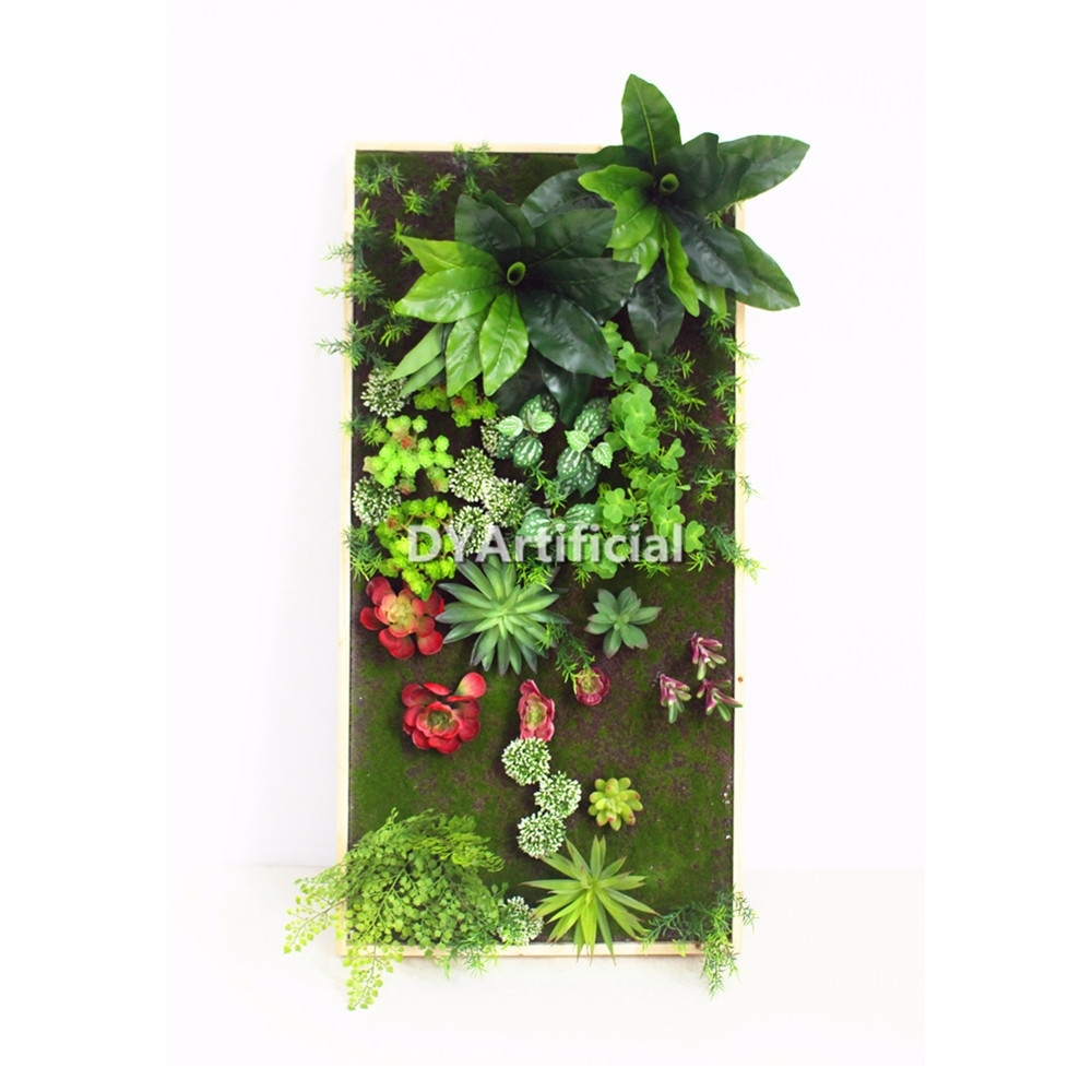 30X120Cm Artificial Living Wall Art Artificial Vertical Succulent Intended For Most Popular Succulent Wall Art (Gallery 15 of 20)