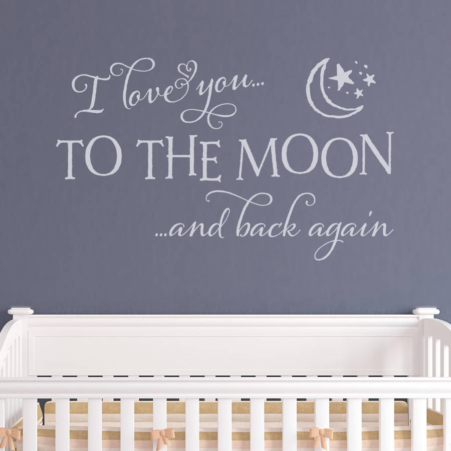 32 I Love You To The Moon And Back Wall Art, I Love You To The Moon Inside 2018 I Love You To The Moon And Back Wall Art (Gallery 16 of 20)