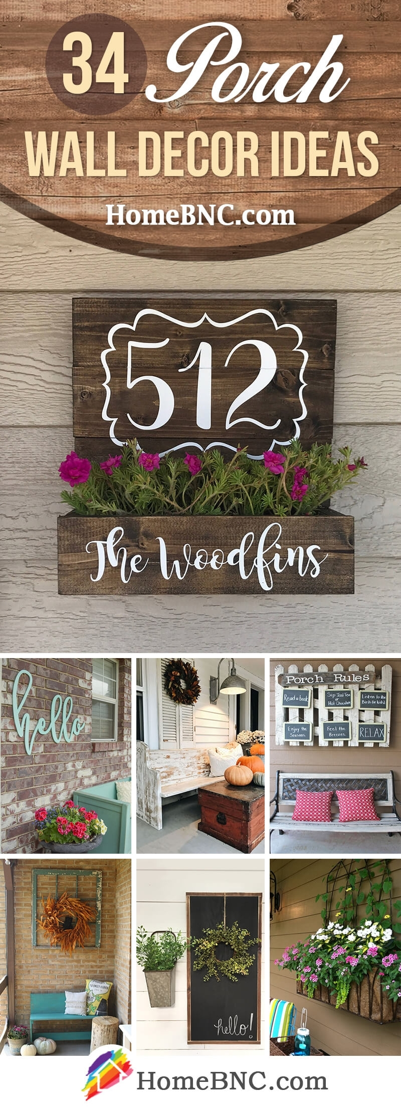 34 Best Porch Wall Decor Ideas And Designs For 2018 Throughout Most Popular Outdoor Wall Art Decors (Gallery 13 of 20)