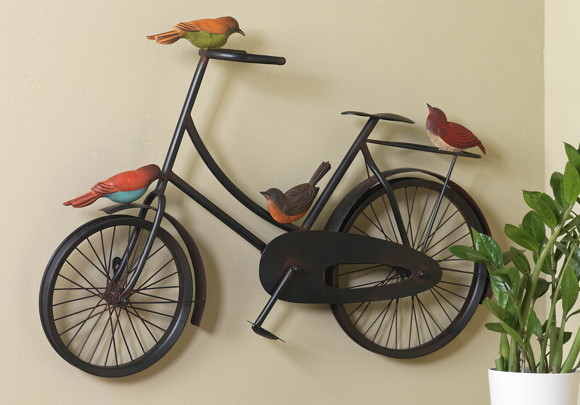 37 Bicycle Wall Art, Iron Bicycle Wall Art Black Wood Frame Fathers within Most Up-to-Date Bicycle Wall Art