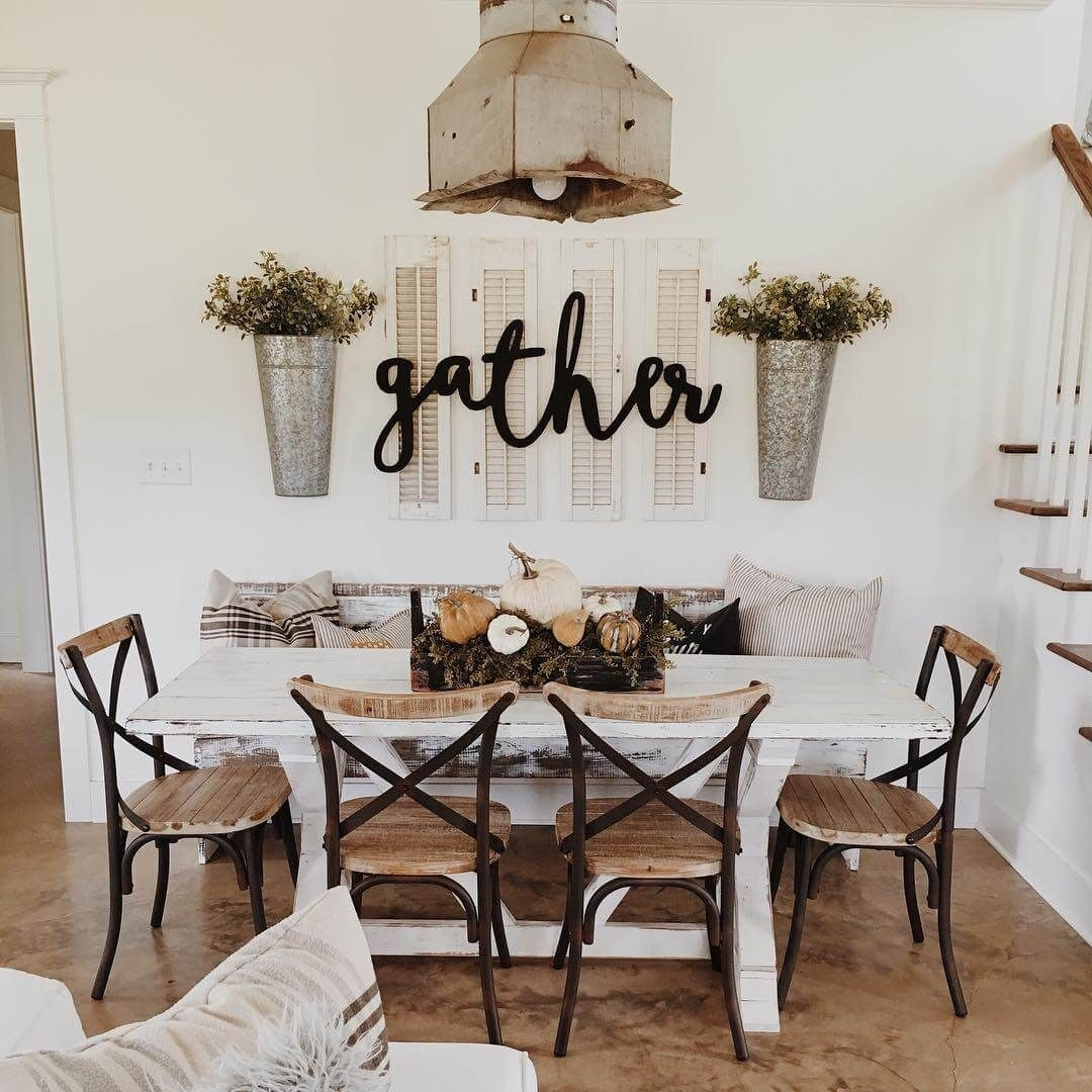 37 Timeless Farmhouse Dining Room Design Ideas That Are Simply With Best And Newest Dining Room Wall Art (Gallery 1 of 15)