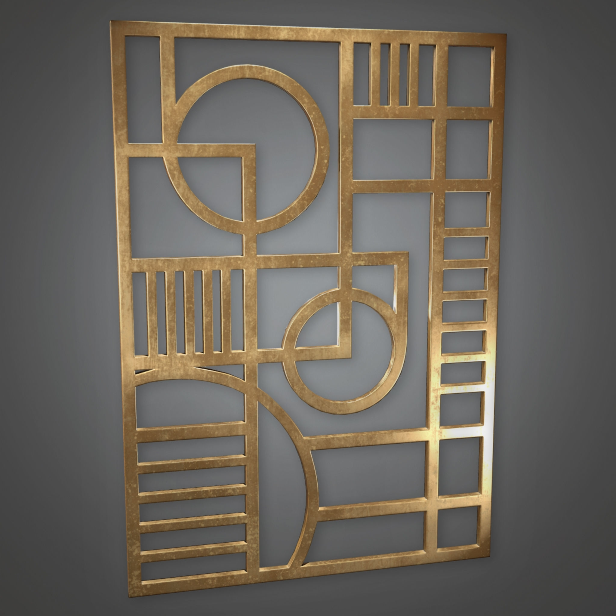 3d Model Wall Art Art Deco – Pbr Game Ready | Cgtrader Regarding Most Recent Art Deco Wall Art (View 15 of 20)