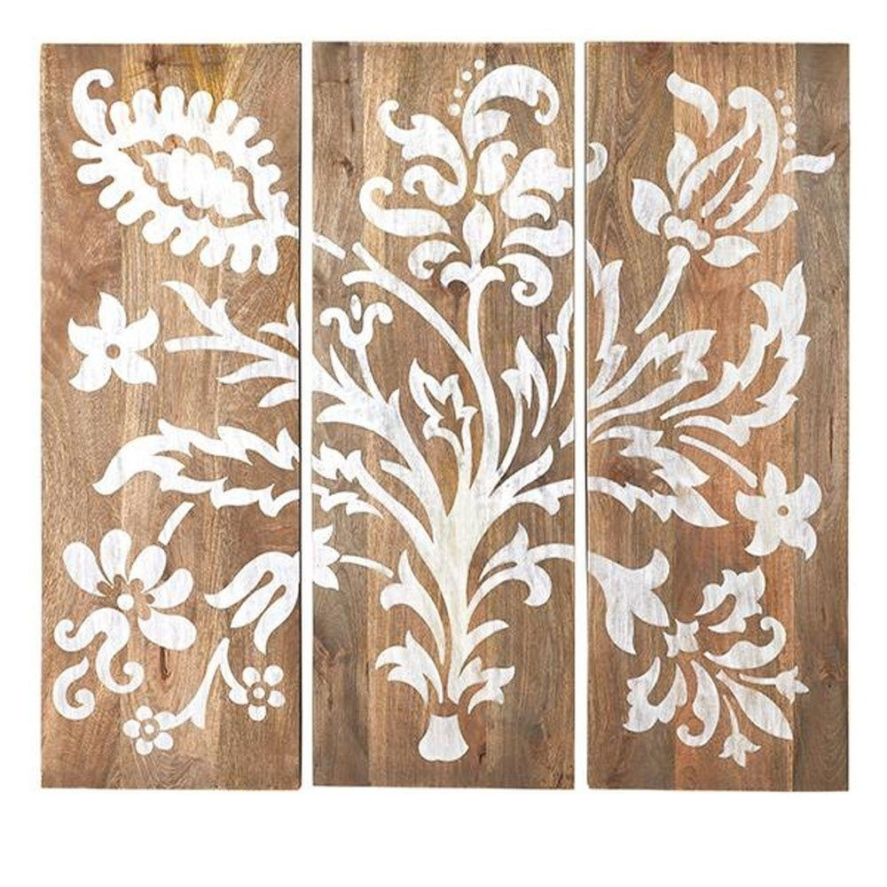 40 In. H X 14 In. W Grey Faria Wood Wall Panel (Set Of 3) 1469700270 For 2018 Wall Art Panels (Gallery 10 of 20)