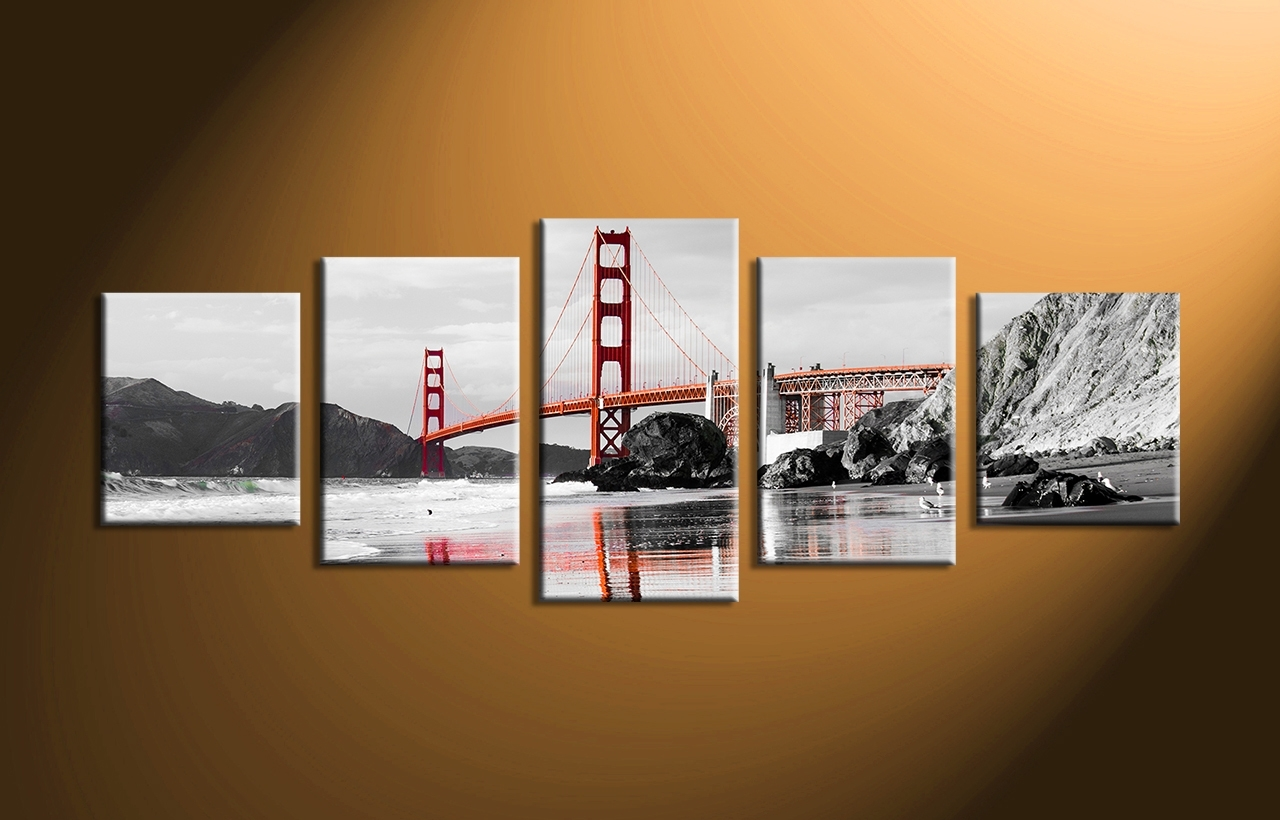 42 Canvas Wall Art Sets, 3 Piece Black And White City Group Canvas With Regard To Latest Multi Piece Wall Art (View 4 of 20)