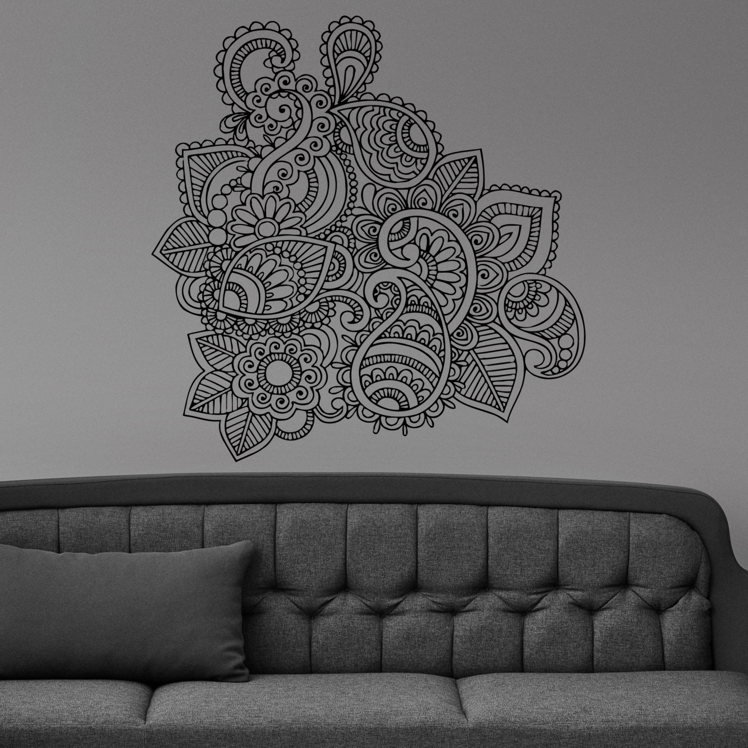 42 Henna Wall Art, Henna Design On Wall Google Search Hallway Regarding 2017 Henna Wall Art (Gallery 4 of 20)